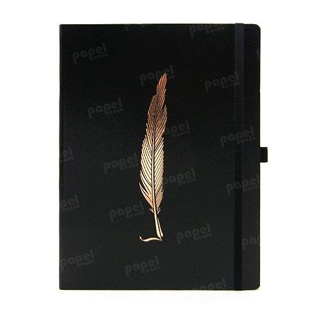 Caderno Brochura Pena Bronze Pontilhado