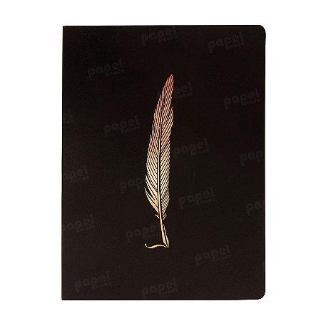 Caderno Flexível Pena Bronze Pontilhado Grande