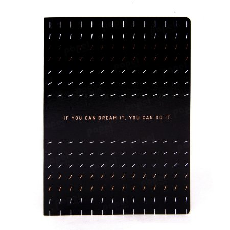 Caderno Flexível Black Dreams Pautado Grande