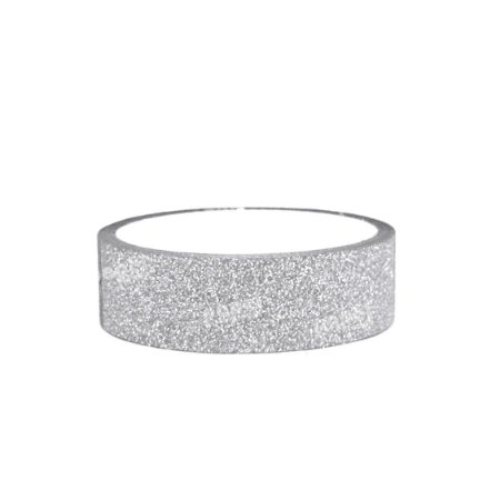 Fita Adesiva Washi Tape Glitter Prata