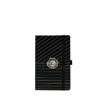 Caderninho Papertalk Black Risca de Giz Pautado