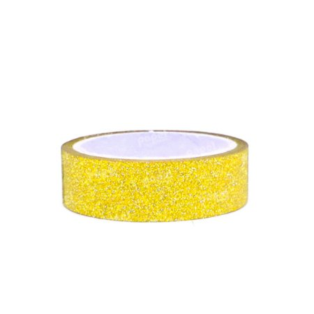 Fita Adesiva Washi Tape Glitter Dourado