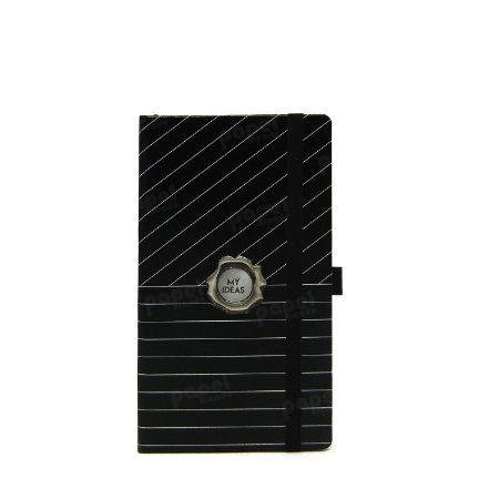 Caderno Slim Black Risca de Giz Pautado