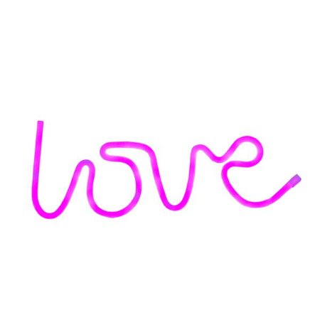 Luminária Neon Love Rosa