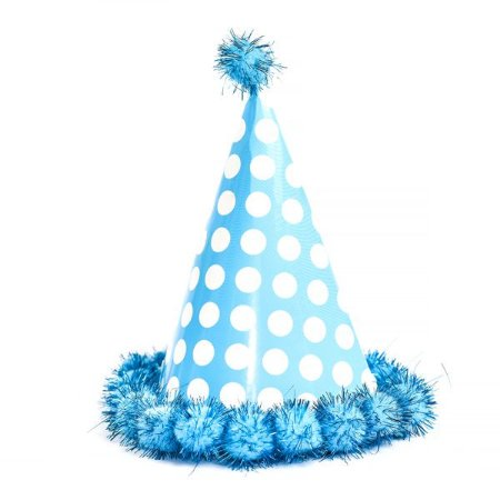Chapéu de Aniversário Pompom Azul