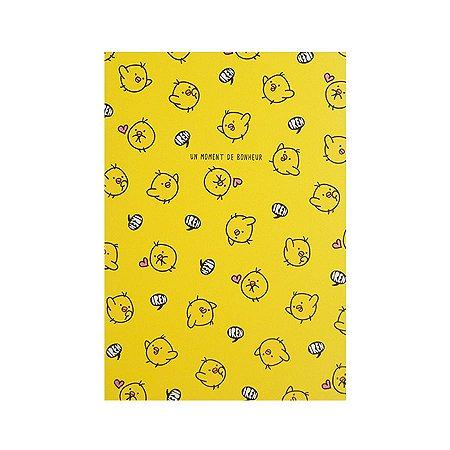 Caderninho Pautado Bichinhos Amarelos