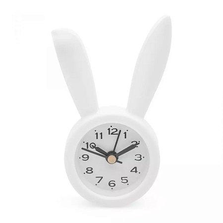 Mini Despertador de Coelho Branco