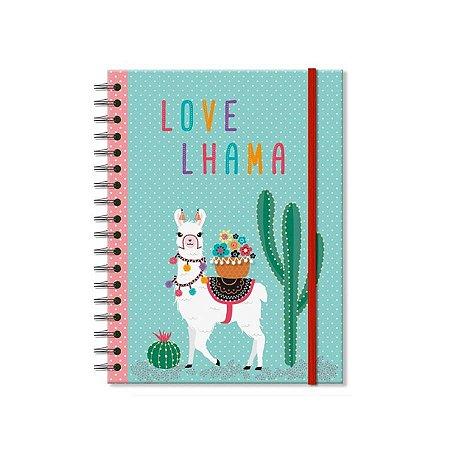 Caderno Lhama Médio 100 folhas