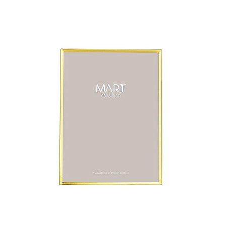 Porta Retrato Clean Dourado 10x15cm