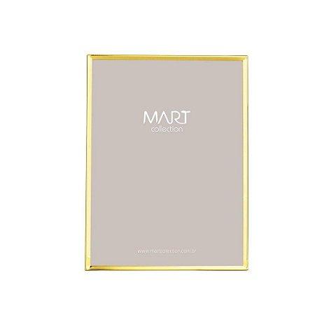 Porta Retrato Clean Dourado 15x20cm