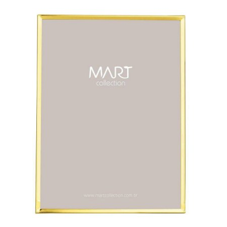 Porta Retrato Clean Dourado 20x25cm