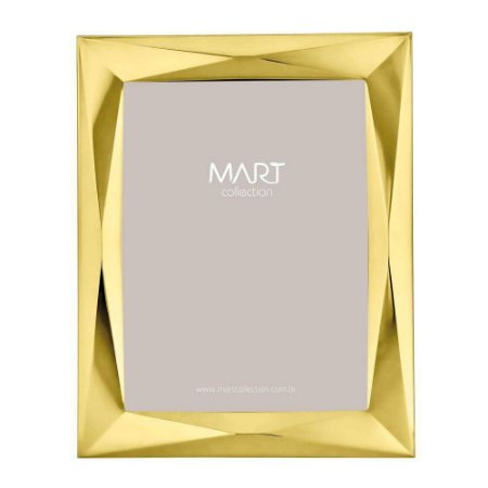 Porta Retrato Origami Dourado 20x25cm