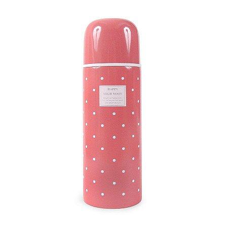 Garrafinha Térmica Retrô Rosa 500ml