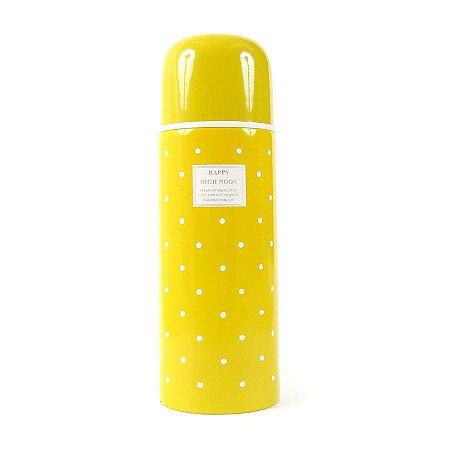 Garrafinha térmica Retrô Amarelo 500ml