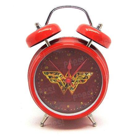 Relógio Despertador Mulher Maravilha