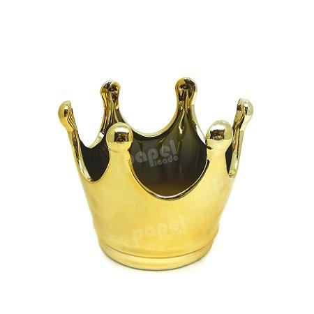 Pote Coroa Dourada P