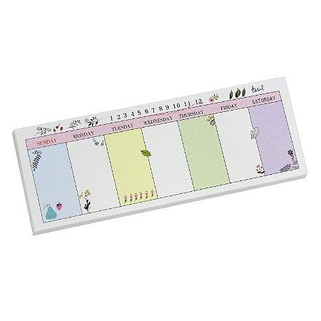 Mini Bloco Planner Semanal Colorido