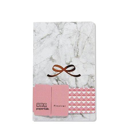 Caderno Flexível Marmorizado Em Branco