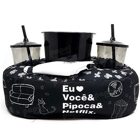 Kit Pipoca com Almofada e Copos - Netflix