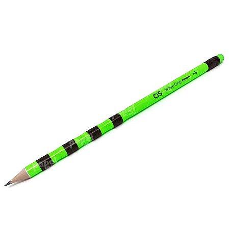 Lápis de escrever Wave Grip Neon Preto com Verde HB