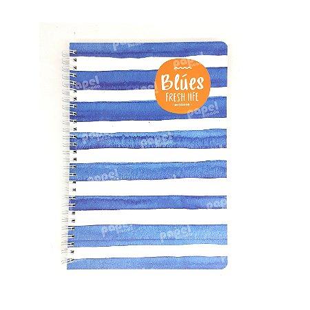 Caderninho Espiral Médio Jeans