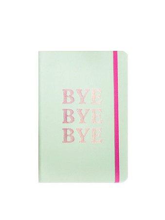 Caderno Verde Pastel Bye Bye