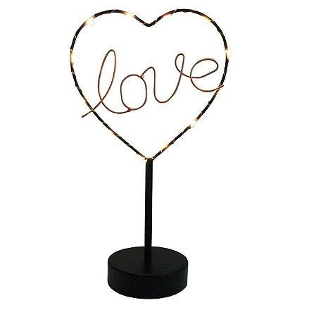 Luminária de Mesa Coração Love