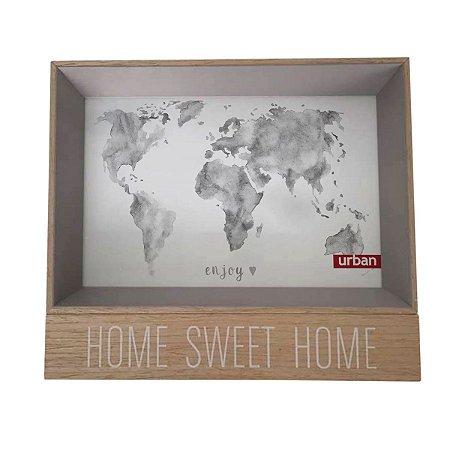 Porta Retrato Home Sweet Home Cinza