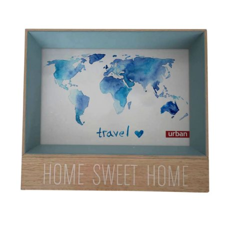 Porta Retrato Home Sweet Home Azul