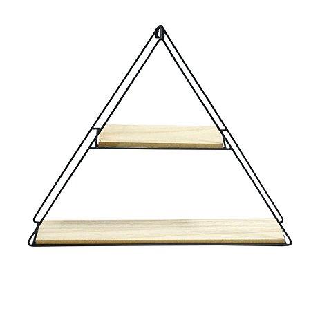 Prateleira Triangular Decorativa com Duas Divisoes