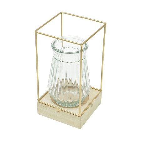Luminária Cobre Vaso Ondulado
