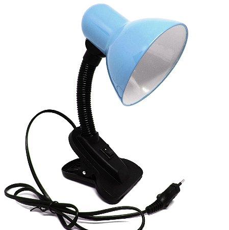 Luminária com Garra Azul Pastel