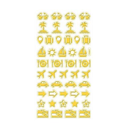 Adesivo Mini Foil Dourado Verão