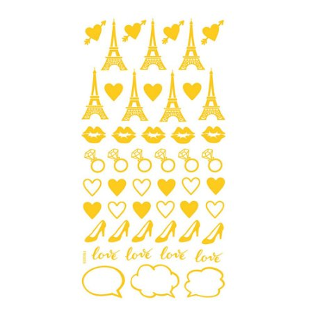 Adesivo Mini Foil Dourado Miss