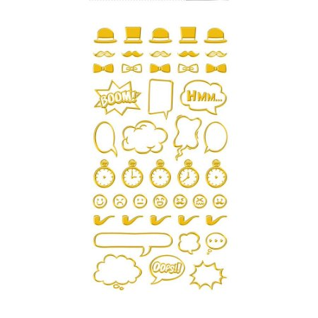 Adesivo Mini Foil Dourado Mister