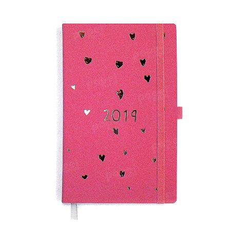 Agenda 2019 Papertalk Corações Rosa