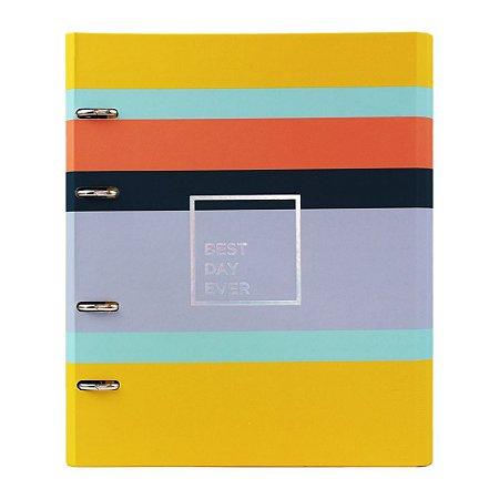 Caderno Fichário Listras Allegro