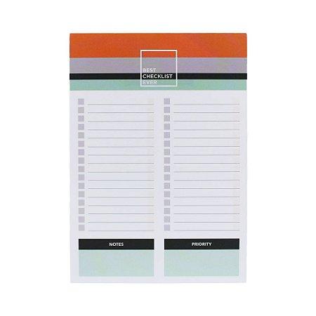 Bloco Checklist A5 Listras