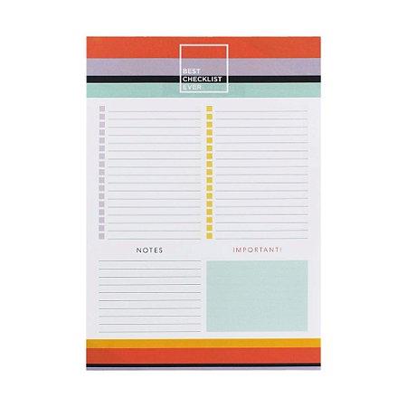 Bloco Checklist A4 Listras