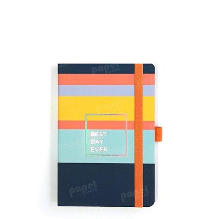 Caderno Brochura Pequeno - Papertalk Listras Allegro Pautado