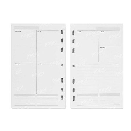 Refil Planner 125x200mm Agenda Sem Data