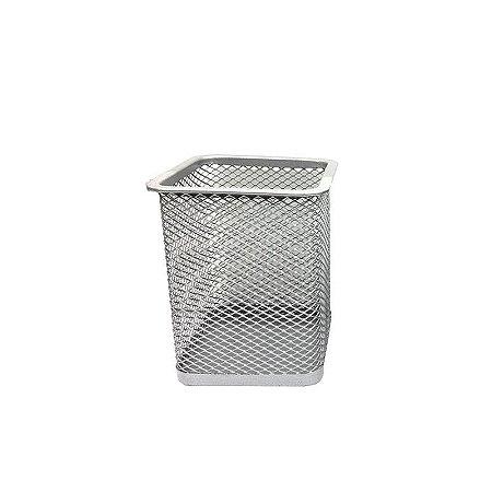 Porta Lápis Aramado Prata