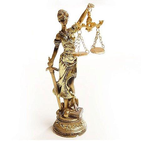 Estátua da Justiça Para Mesa