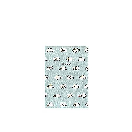 Caderninho Brochura Azul Patinhos