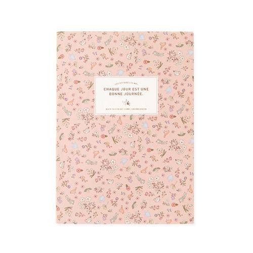 Caderninho Rosa Passarinhos com Pauta