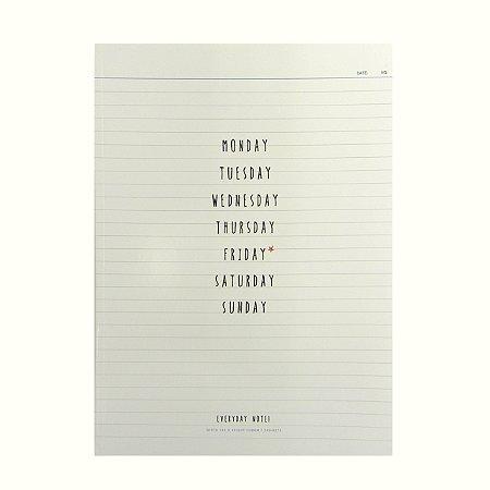 Caderninho Brochura Dias da Semana