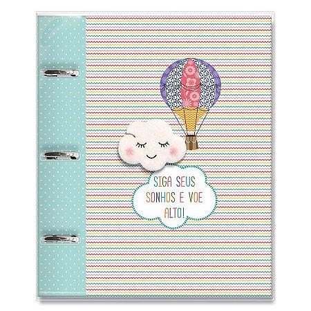 Caderno Fichário 3 Furos Nuvem Balão