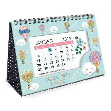 Calendário de Mesa Nuvem 2019