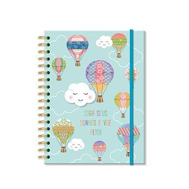 Caderno Nuvem e Balão Médio 200 folhas