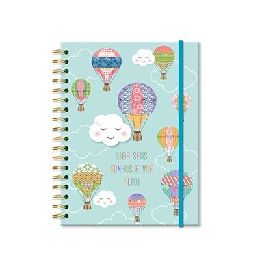 Caderno Nuvem e Balão Médio 96 folhas